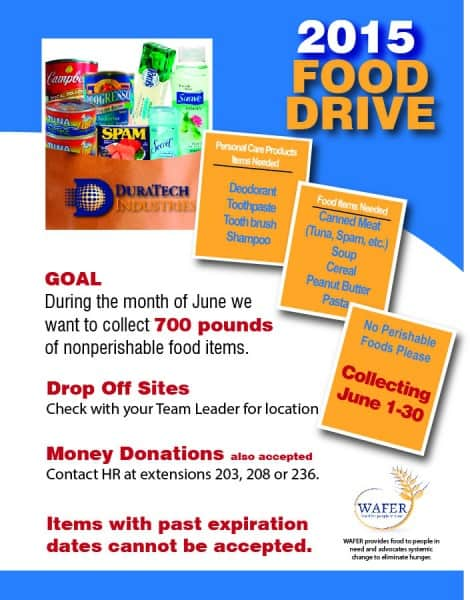 WAFER Food Drive